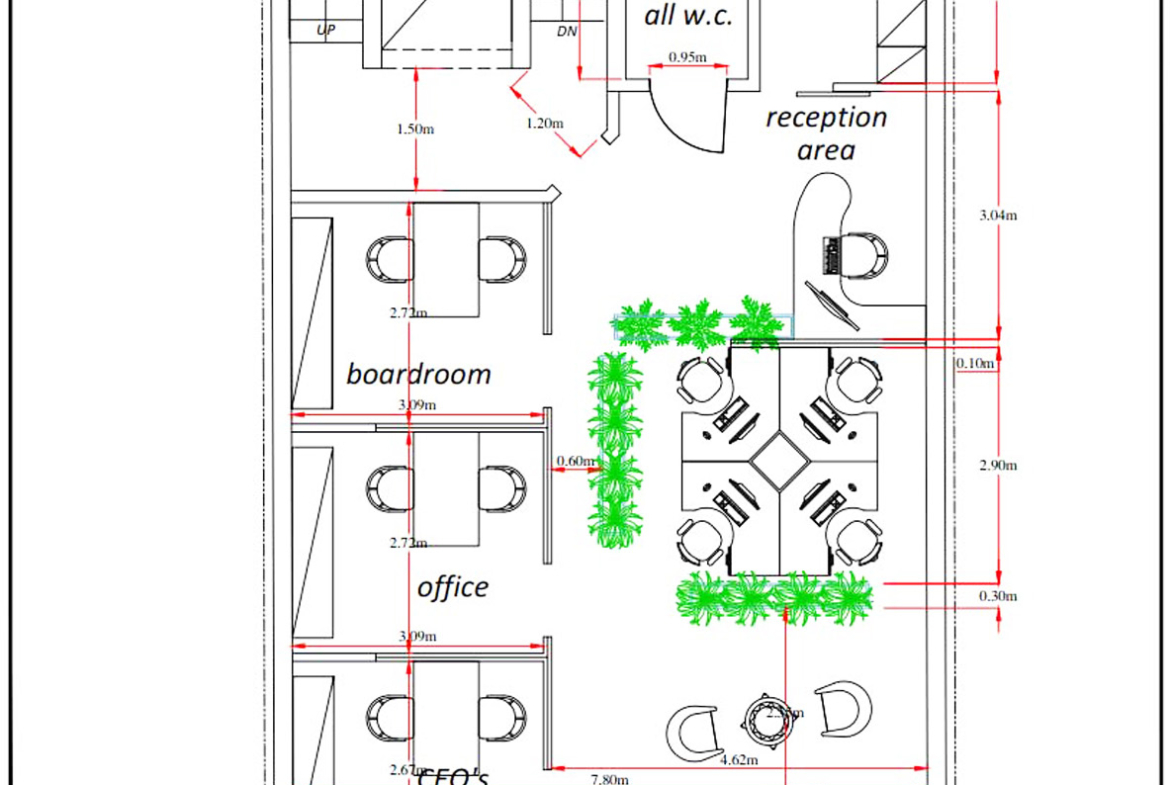 Sliema Office Building for Rent - Potential Layout Option